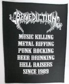 Benediction - 'Music Killing' Giant Backpatch
